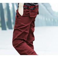 Модные прямые повседневные мужские брюки с двумя поясами и пуговицами на карманах