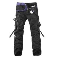 Мужские модные повседневные брюки с карманами на коленях 5 цветов