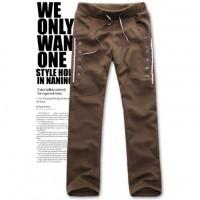 Модные мужские повседневные брюки с уникальным дизайном карманов на пуговицах