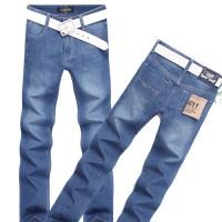 Мужские прямые хлопковые джинсы