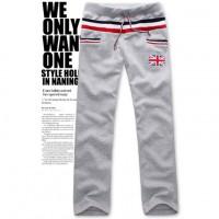 Крутые мужские повседневные брюки леггинсы с британским флагом на кармане