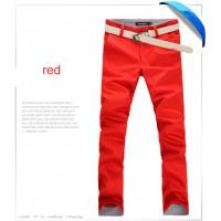 Модные узкие повседневные прямые повседневные брюки 9 цветов