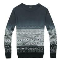 Модный мужской пуловер (свитер) с орнаментом