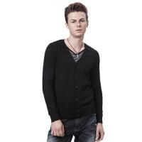 Модный мужской вязанный кардиган (свитер)