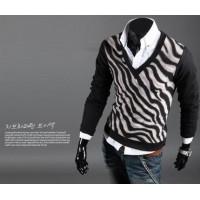 Модный мужской свитер лонгслив высокого качества с V-образным вырезом