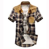 Мужская клетчатая рубашка в винтажном стиле