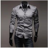 Крутая рубашка с длинным рукавом с тонкой отделкой и отложным воротником