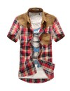 Мужская рубашка с коротким рукавом в модную клетку