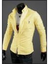 Модная мужская рубашка, приталинный стиль