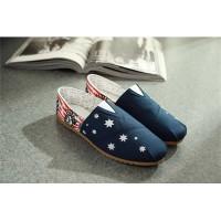 Мужские дышащие летние парусиновые туфли в британском стиле со звездами