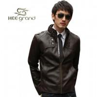 Модная мужская классическая кожаная куртка