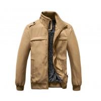 Модная мужская куртка, воротник стойка, 3 цвета