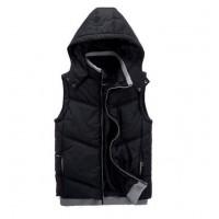 Зимняя модная теплая жилетка черного цвета для мужчин