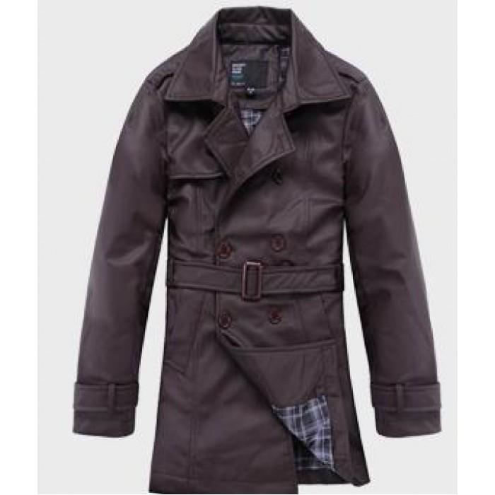 Men s Casual - интернет-магазин модной мужской стильной одежды. Мужское кожаное пальто с поясом, 4 цвета