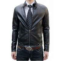 Модная классическая мужская кожаная куртка